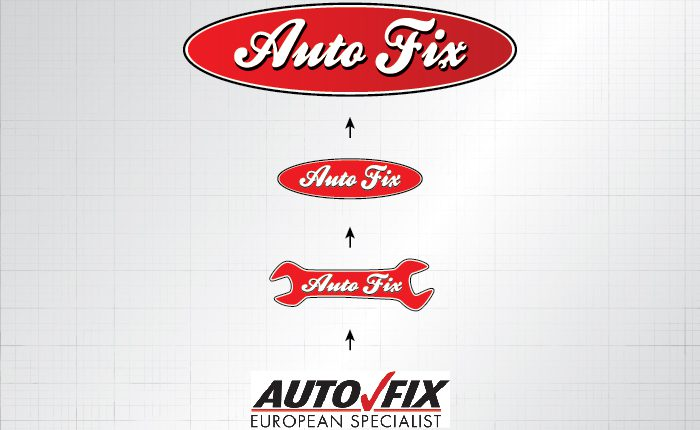 Auto Fix logo progression