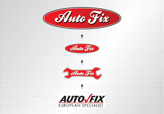 Auto Fix logo progression